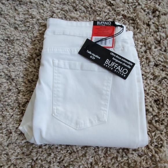 Buffalo David Bitton Denim - David Bitton Midrise Super Soft White Ankle Jeans
